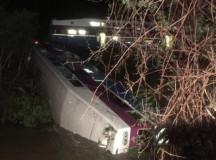 Commuter Train Derailed In Northern California, 14 Injured