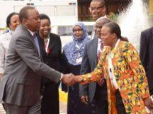 Kenyan President Uhuru Kenyatta Urges Nairbi Residents To Vote For Jubilee Candidates