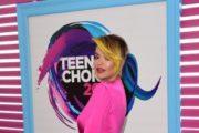 Rita Ora Appears In Cleavage-Baring Pink Dress At 2017 Teen Choice Awards