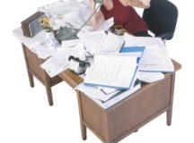 Disorganization affects work performance